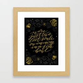 Wish You Were Here - Black and Gold Framed Art Print