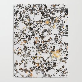 Gold Speckled Terrazzo Poster