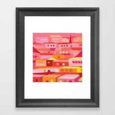Houses Pattern Framed Art Print
