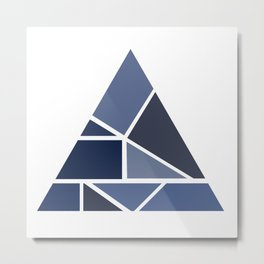 Triangle puzzle Metal Print