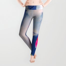 abstract joyful and wild meadow_001 Leggings