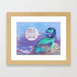 Unicorn Siren Framed Art Print