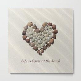 Pebbles On The Beach Metal Print