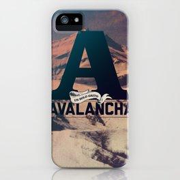 AVALANCHA iPhone Case