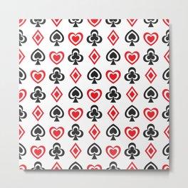 Aces Hearts Spades Diamonds Clovers Poker all Over Print Metal Print