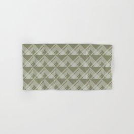 Modern Simple Geometric 5 in Sage Green Hand & Bath Towel