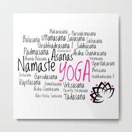 Yoga Asanas  Metal Print