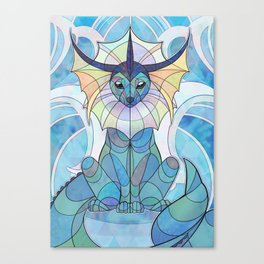 Stained Glass: Vaporeon Canvas Print