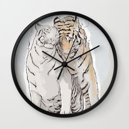 Tiger Love Wall Clock