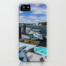 more boats at rest Kennebunkport Maine iPhone Case
