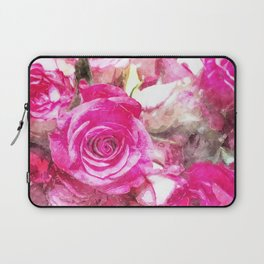 Bunch of Pink roses (watercolour) Laptop Sleeve