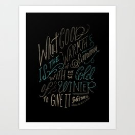 WINTER - Steinbeck Quote Art Print