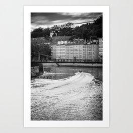Rhône Lyon Art Print