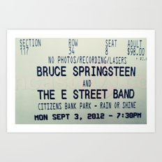 Bruce Springsteen & the E Street Band: Rain or Shine Art Print