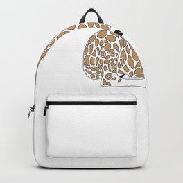 Cute Cartoon Giraffee Sitting Down Backpack