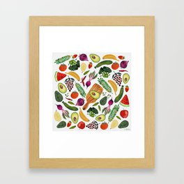 eat clean Framed Art Print