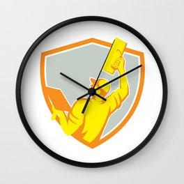 Plasterer Masonry Trowel Raise Up Retro Wall Clock