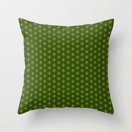 Zucchini green Throw Pillow