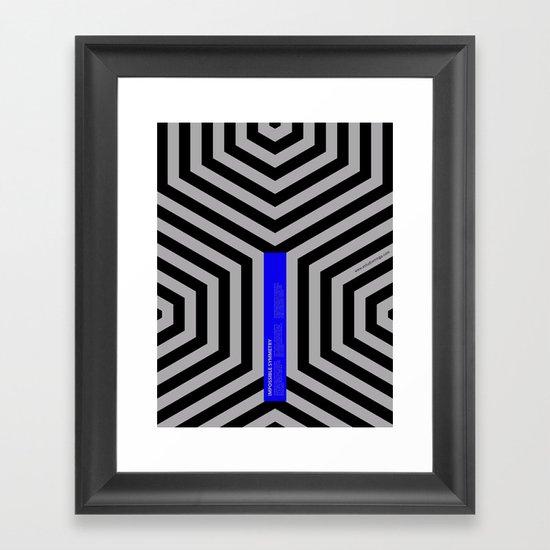 Impossible Symmetry - Cebra Framed Art Print