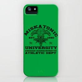 Miskatonic University athl dep iPhone Case