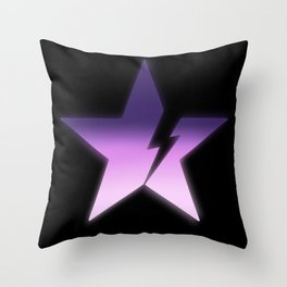 Black star bold Throw Pillow