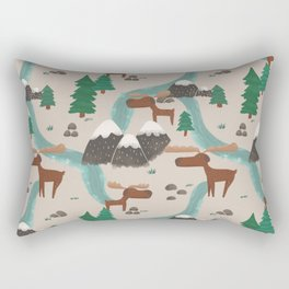Moose in the Wildnerness Rectangular Pillow