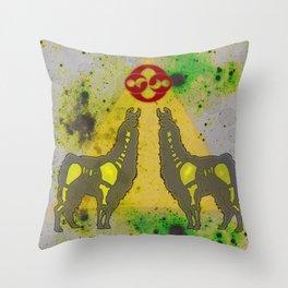 Cosmic Llama Throw Pillow
