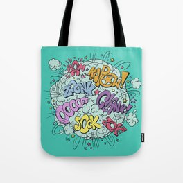 comic brawl Tote Bag