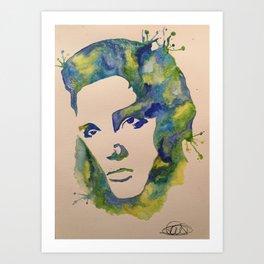 Blue suede splash Art Print