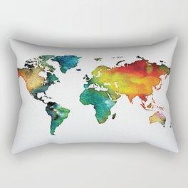 Multicolor World Map 04 Rectangular Pillow