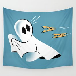 A Fearful Phantom (Teal) Wall Tapestry