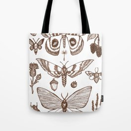 Natural History (Brown) Tote Bag