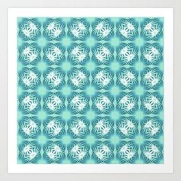 Glowing turquoise Art Print
