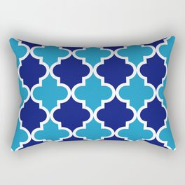 Quatrefoil - blue dual tone Rectangular Pillow