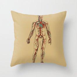 Circulatory System 2 Throw Pillow