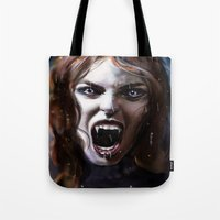 bride Tote Bags featuring Bride by Lily Fitch