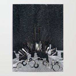 Silver Cityscape Poster