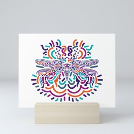 Colorful Fly Mini Art Print