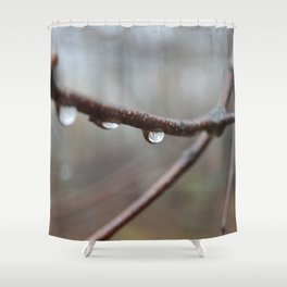 Raindrops on a Branch Shower Curtain