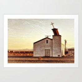Forgotten Church Route 66 Art Print