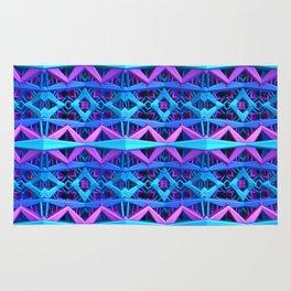 Blue/Purple Metallic Pattern Rug