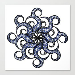 Reverse in blue Canvas Print