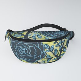 Black and Blue Fanny Pack