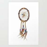 dreamcatcher Art Prints featuring Dreamcatcher by Bruce Stanfield