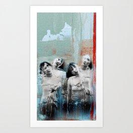 Four shades Art Print