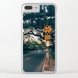 Honolulu Road Clear iPhone Case