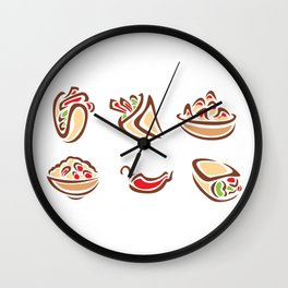 Spicy Mexican Food Wall Clock