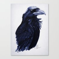 raven Canvas Prints featuring .Raven by Isaiah K. Stephens