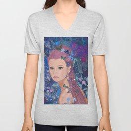 Girl illustration  Unisex V-Neck