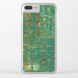 Teal foils Clear iPhone Case